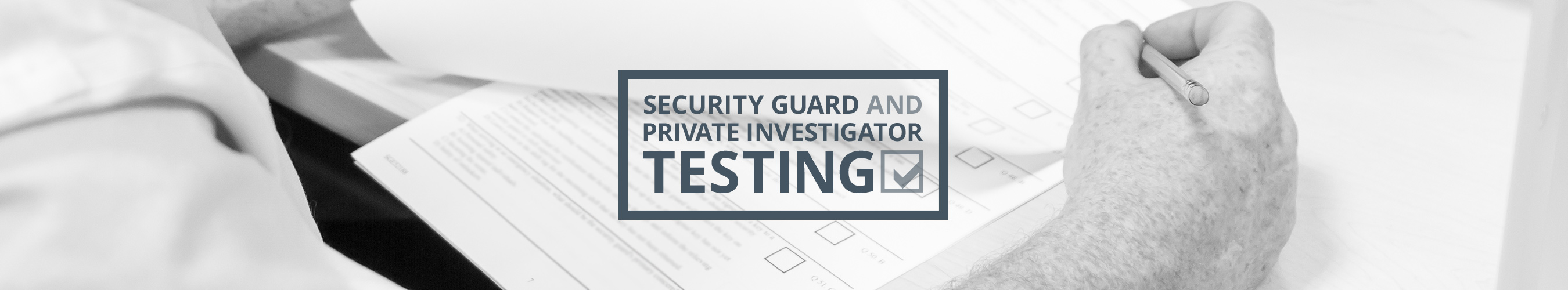 Book a Test | Ontario Security Guard Testing and Private Investigator